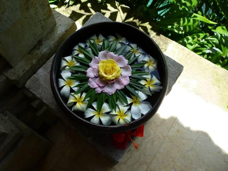 Fresh Cut Flowers in a low bowl