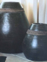 pyramid ceramic jar UN-7025-30 24d x 30h UN-7025-19 15d x 19h