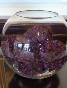 Allium Balls Glass Bowl