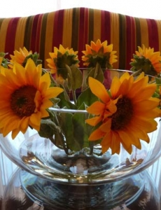 Sunflowers Glass Bowl