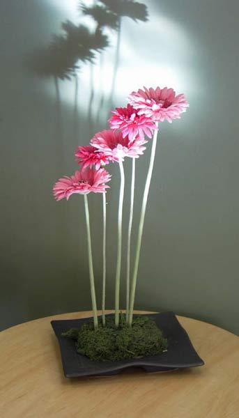 . Contemporary Silk Floral   Artificial Flower Arrangements