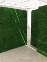 Make Be-Leaves UV boxwood hedges at PICNIC pool retreat, Downtown Grand Hotel, Las Vegas