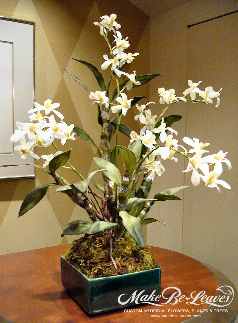 Make Be-leaves artificial dendrobium orchids