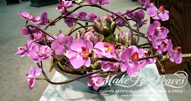 Make Be-leaves artificial-low-wrapped-orchids