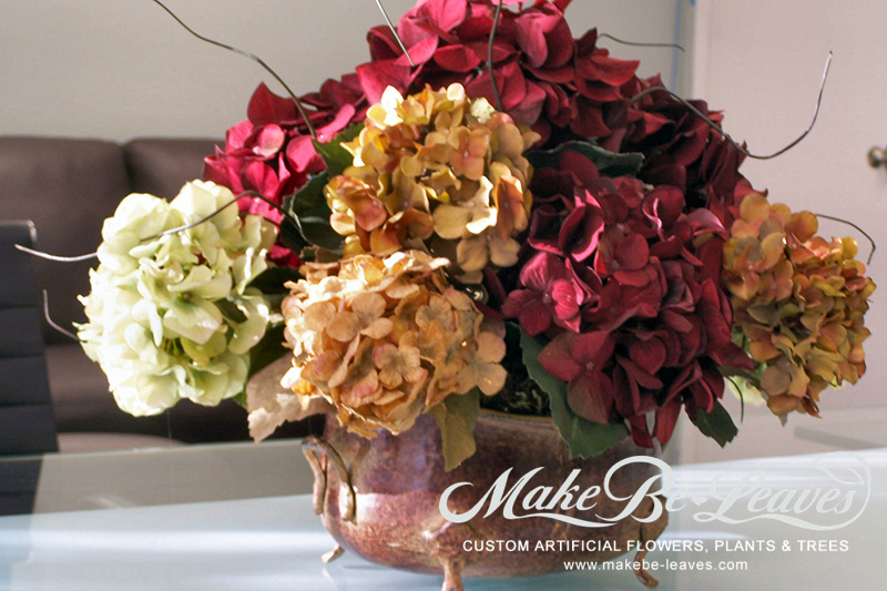 Make Be-leaves artificial-multi-color-hydrangeas