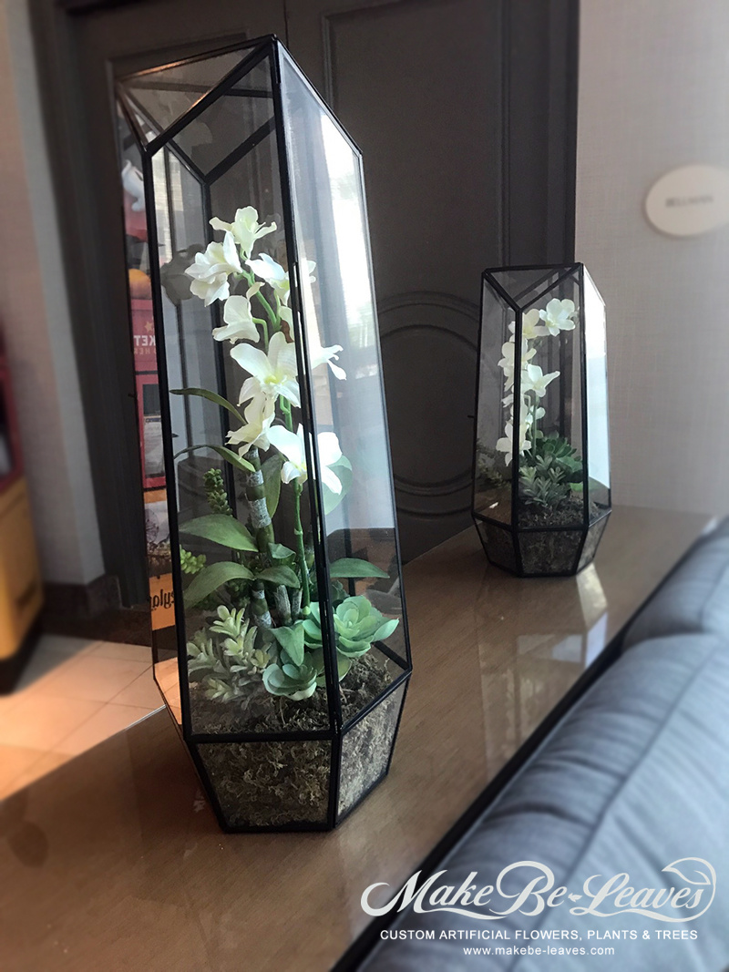 Make Be-leaves artificial-orchid-terrarium