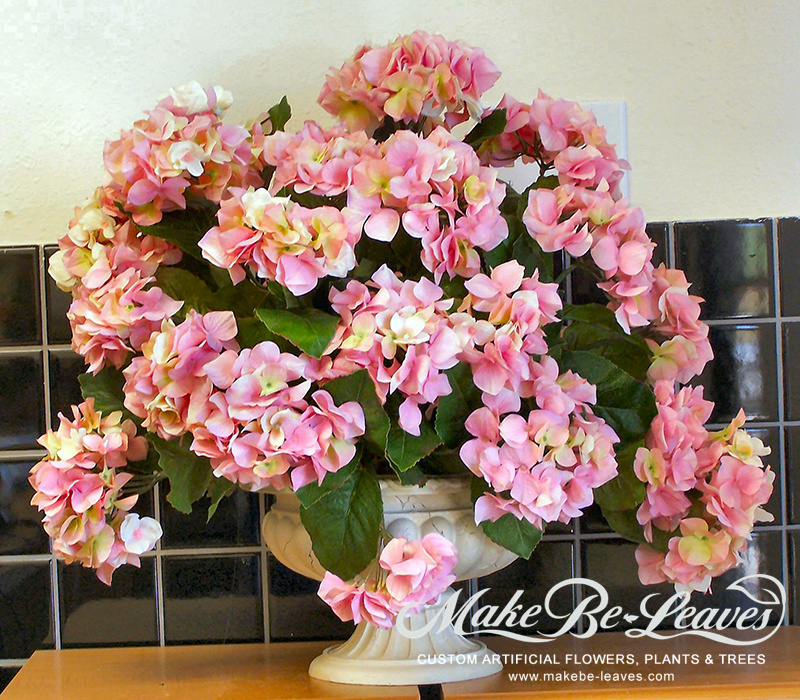 Make Be-leaves artificial-pink-hydrangeas