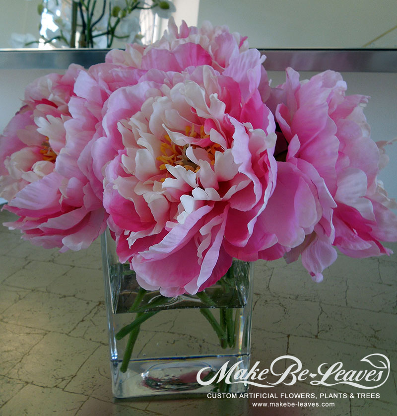 Make Be-leaves artificial-pink-peonies