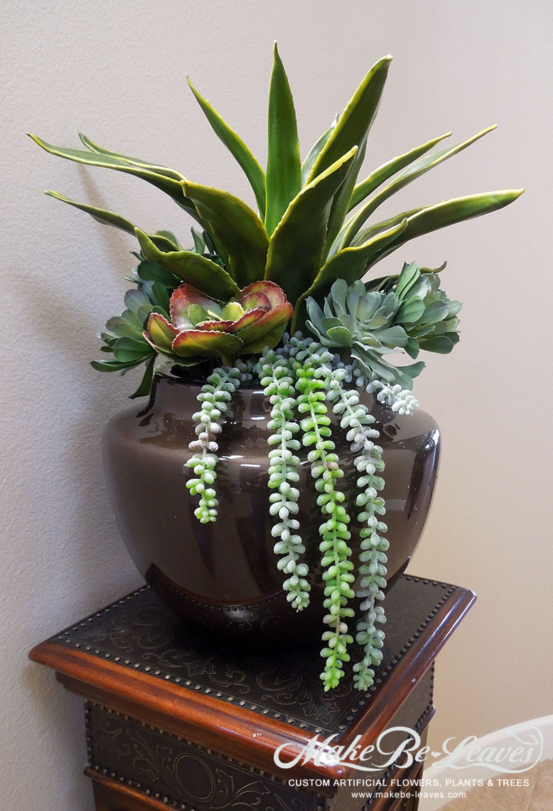 Makebe-leaves-artificial-succulents-in-urn-item217