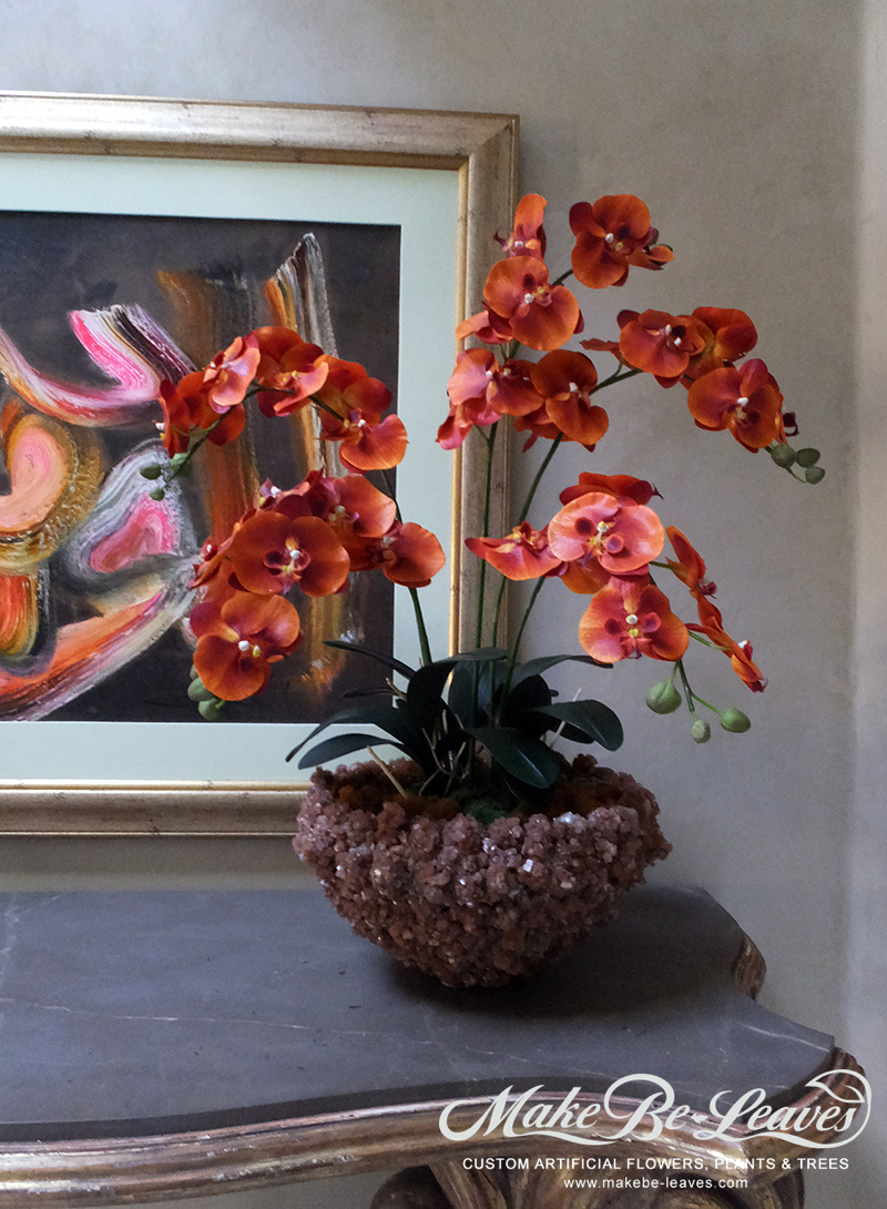 Make Be-leaves silk-orange-phaleanopsis