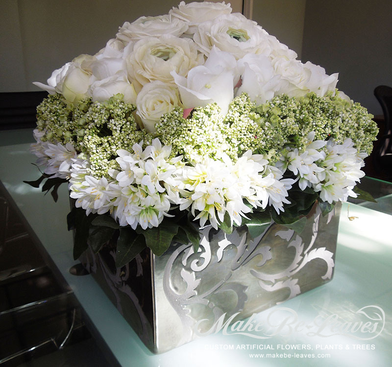 Makebe-leaves-silk-tiered-white-roses-item234