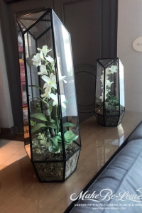 Makebe-leaves-artificial-orchid-terrarium-item210