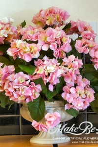 Makebe-leaves-artificial-pink-hydrangeas-item226