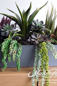 Make Be-leaves faux-mixed-succulents