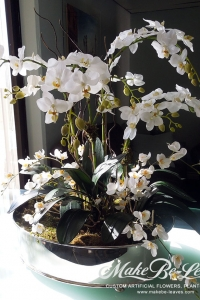 Makebe-leaves-silk-mixed-white-orchids-item233