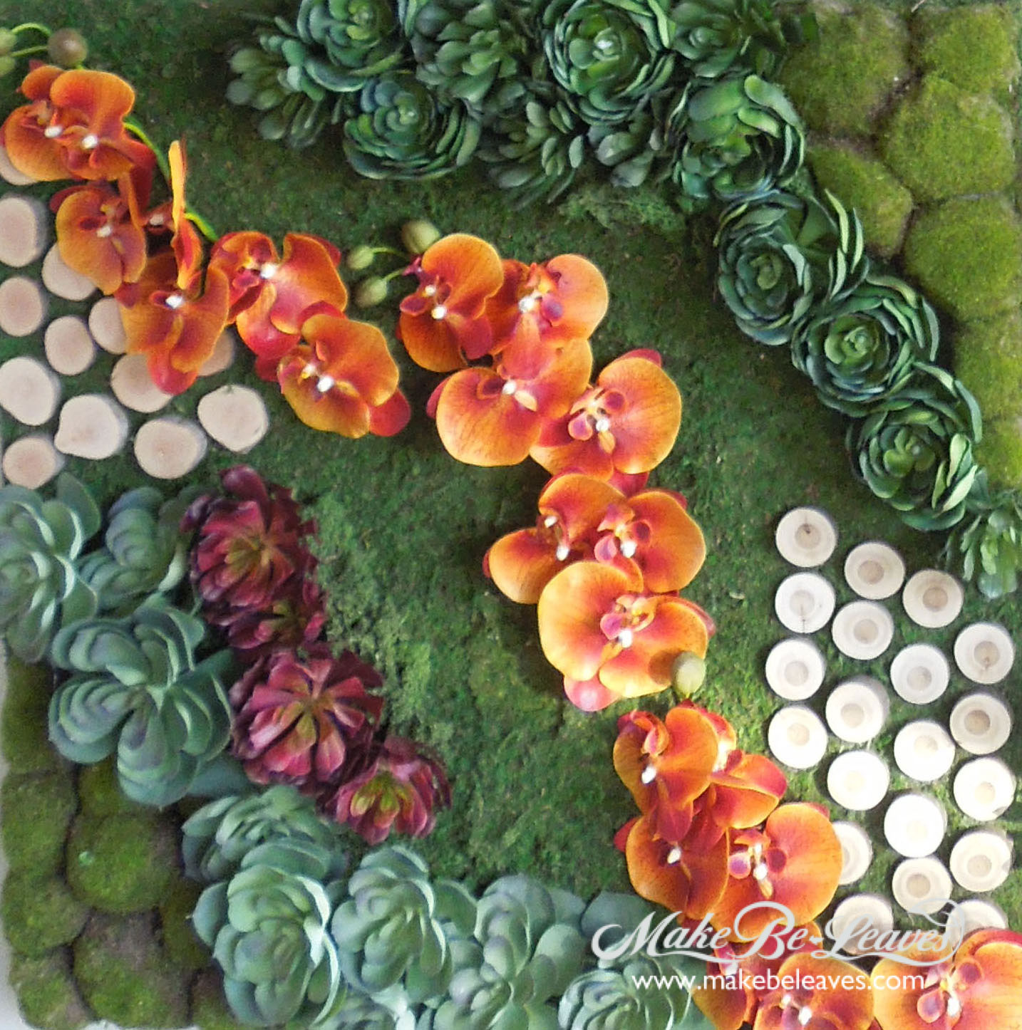 Make Be-Leaves faux-floral-wall-art