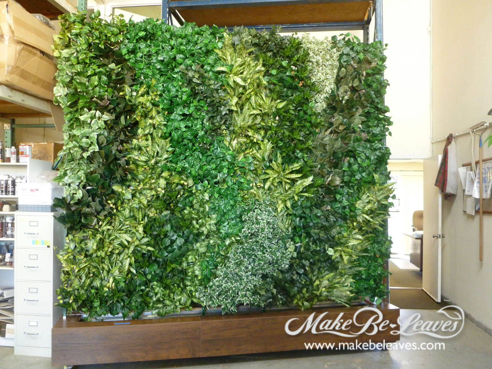 Interior And Exterior Artificial Green Wall Plantings
