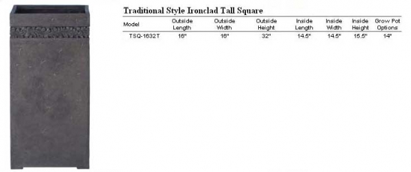 Traditional Tall Square