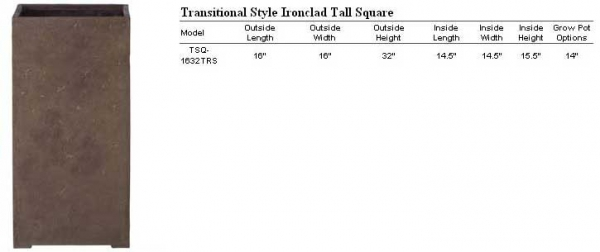 Transitional Tall Square