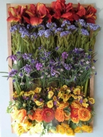 Silk Floral Wall Tapestry