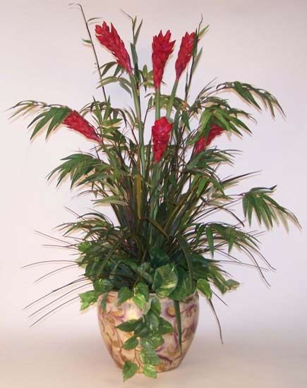 Silk floral arrangements artificial tropical flowering plants mightylinksfo Image collections