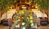 Silk focal floral dining