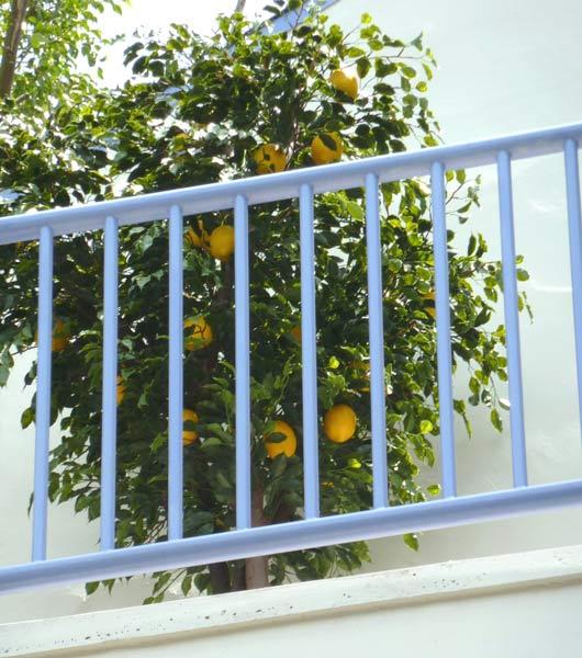 UV faux lemon tree 8-ft