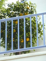 UV faux lemon tree 8-ft