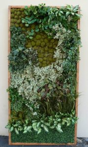 make be-leaves faux living wall