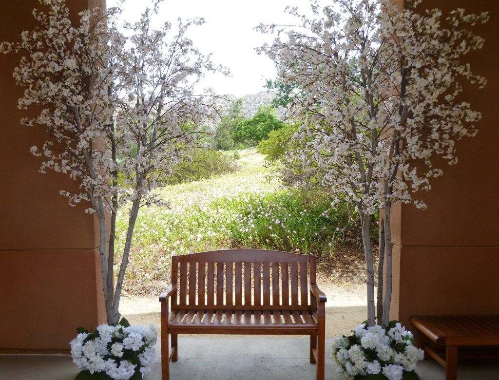 trees blossom cherry tree event rental faux weddings pink wedding artificial flower flowers plants events rentals plant leaves special shower