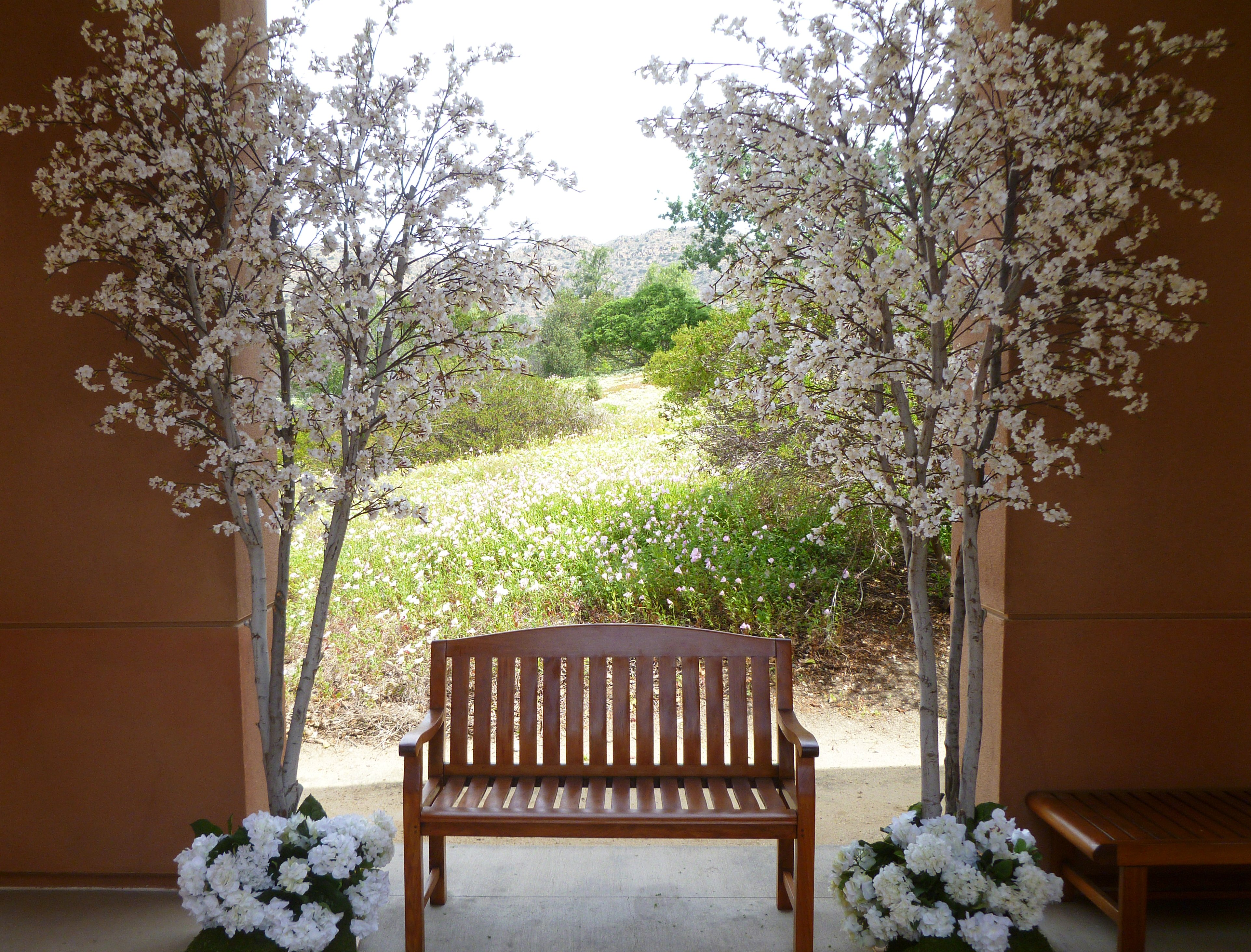 Event Faux Flower Al Pink And White Cherry Blossom Trees