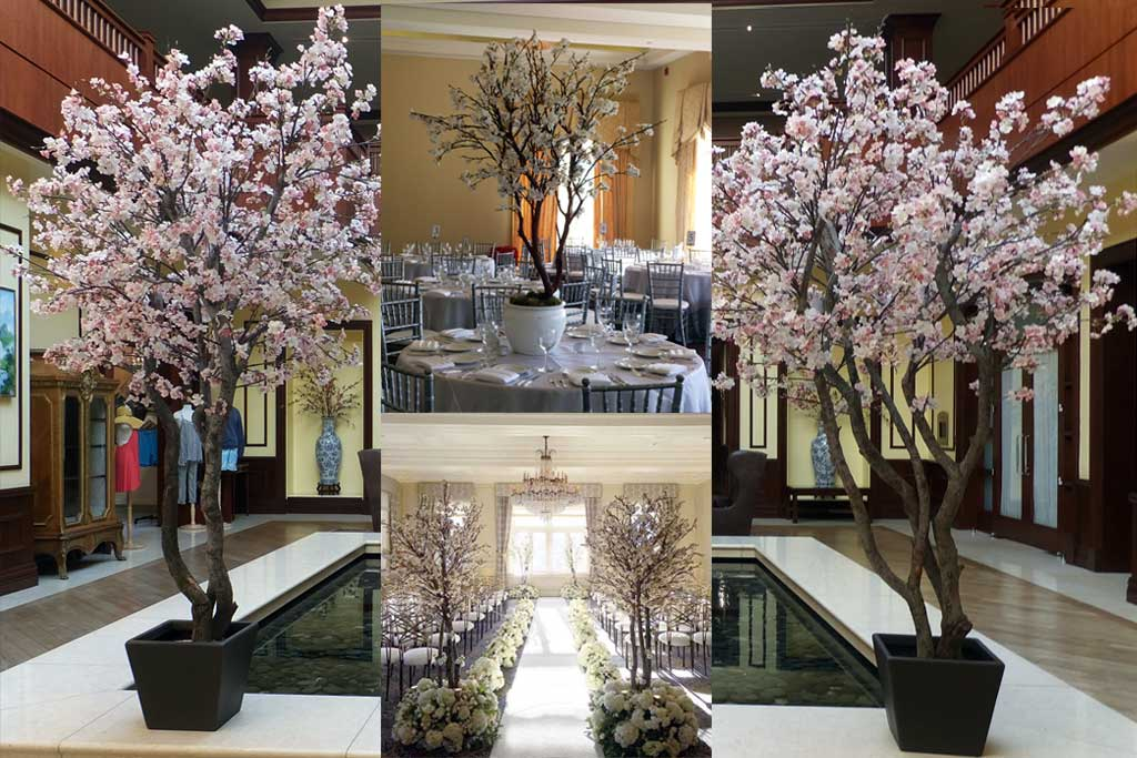Tree rental for weddings events artificial plants faux trees make be leaves faux cherry blossom tree rental junglespirit Gallery