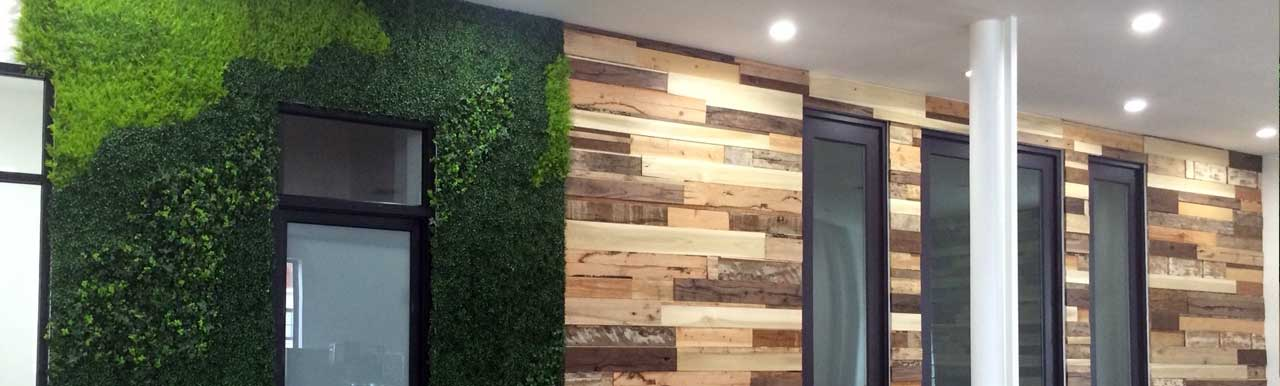 Office Faux Living Wall