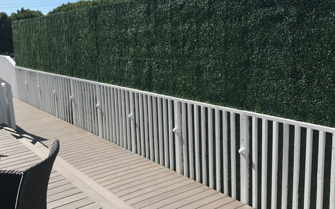 Custom Rooftop Artificial Boxwood Hedge Privacy Walls