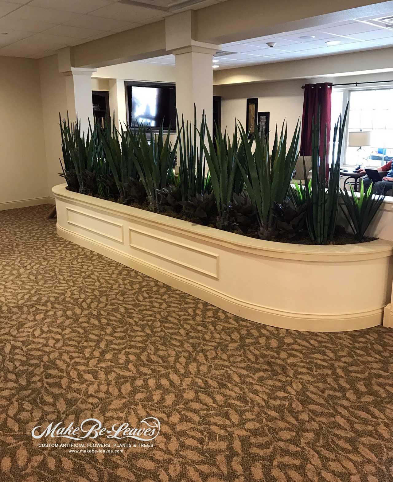 Artificial plants beautify the primrose retirement Artificial trees for interior design