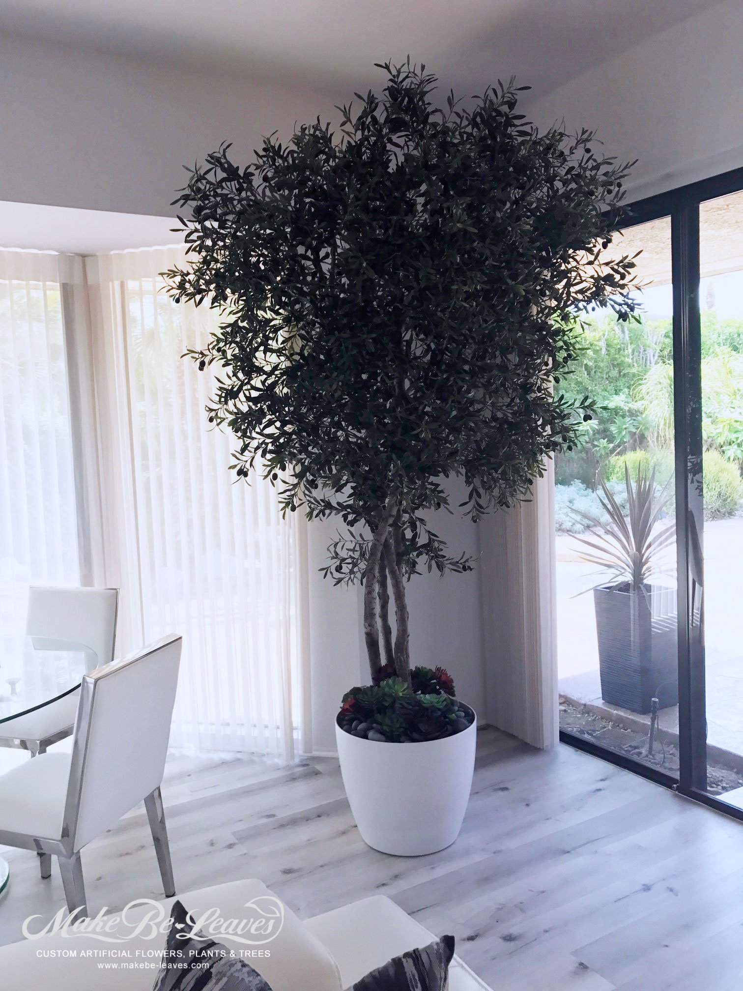 Artificial Olive Trees In Custom Containers Make Be Leaves
